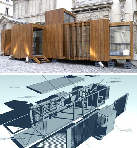 qu est ce que les maisons modulaires en bois histoire maison modulaire bois march maison. Black Bedroom Furniture Sets. Home Design Ideas